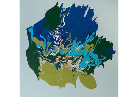 Peace, Acrylic on canvas, 80 x 80 cm