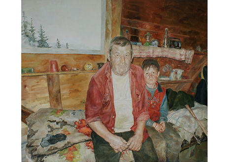 Greylight Window, Oil on canvas, 150 x 175 cm