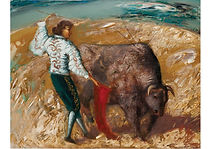 Bullfighter, Mixed media on canvas, 70 x 90 cm