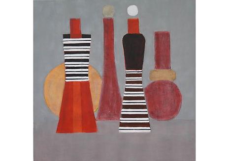 Perfumes, Acrylic on canvas, 80 x 80 cm