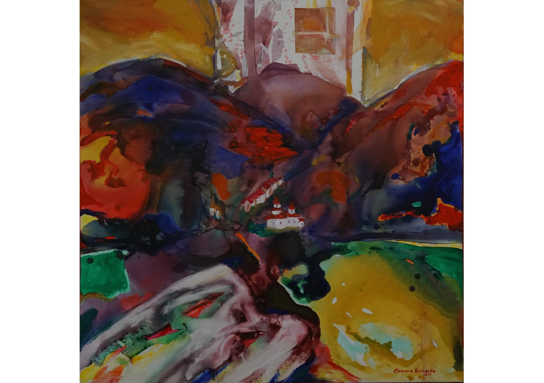 The kiss, Oil on canvas, 80 x 80 cm