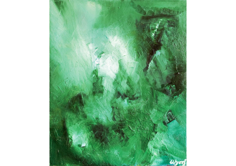 Green rain, Oil on canvas, 60 x 50 cm