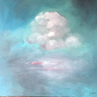 Blured Pink...blured feelings, oil in canvas, 80x80cm