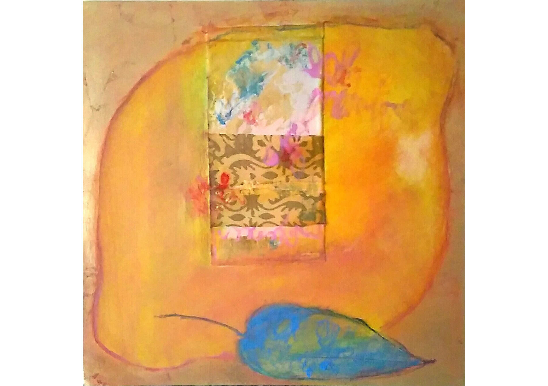 Lemon I, Mixed media on canvas, 50 x 50 cm