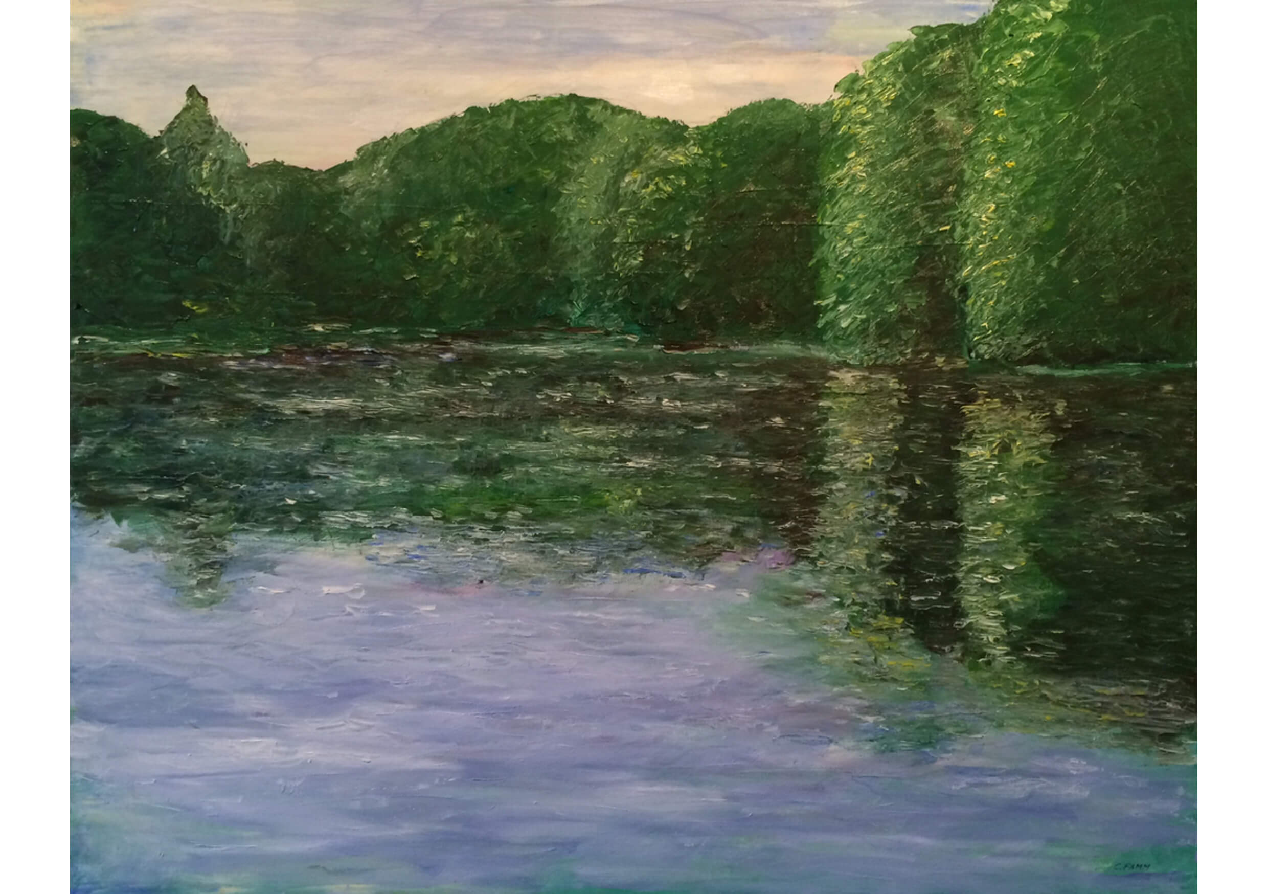 The banks, Oil on canvas, 80 x 100 cm