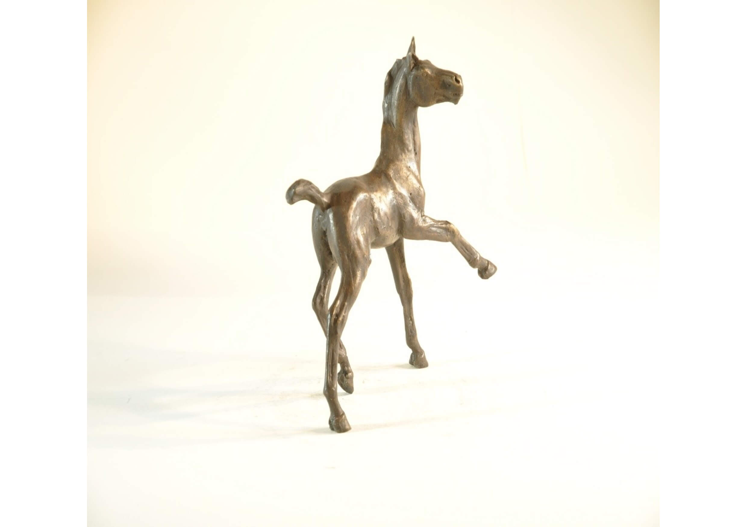 The Horse #15, Bronze sculpture, 15 x 21.5 x 25.5 cm