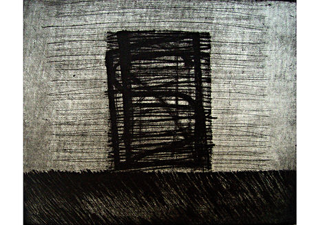Cathedral, Drypoint and aquating intaglio, 30 x 50 cm