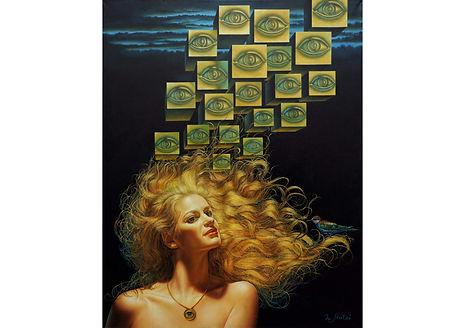 Ishtar Goddess, Oil on canvas, 75 x 60 cm