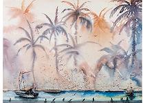 Dominicana, Watercolour on paper, 52 x 70 cm