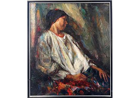 Contemplation, 70×60cm, oil on canvas, 2019,1400€