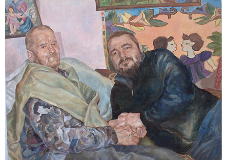 Father and Son, Oil on canvas, 120 x 160 cm