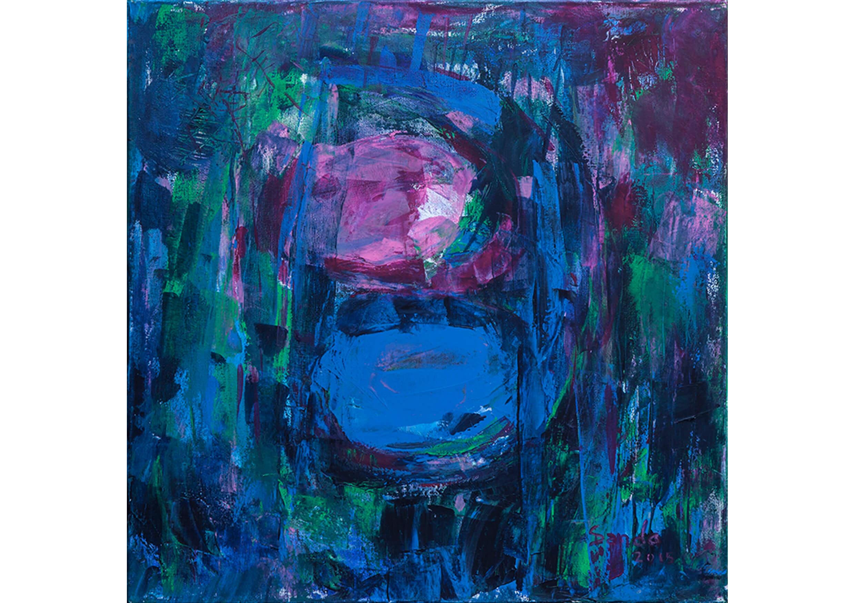 Fresh 3, Acrylic on canvas, 64 x 64 cm