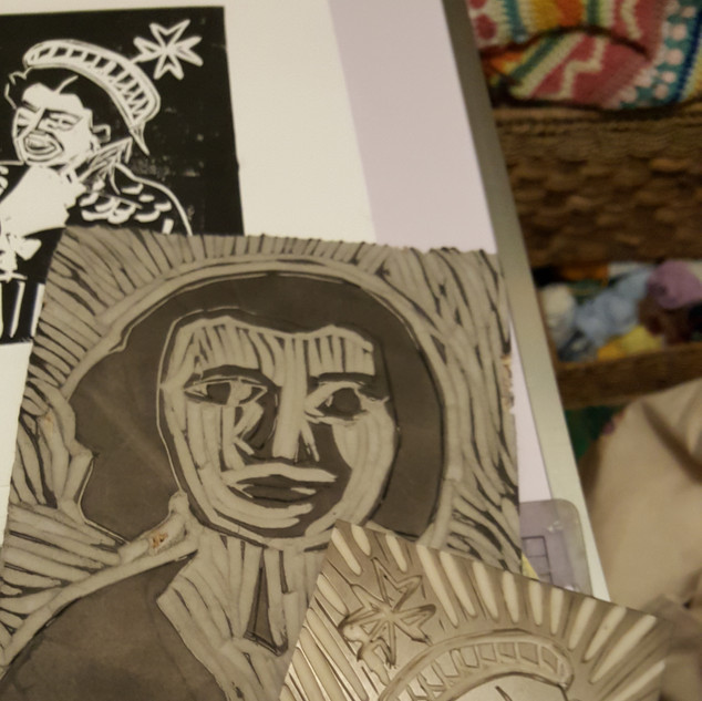 Wanderlust 2020 Week 4 Lino cutting and