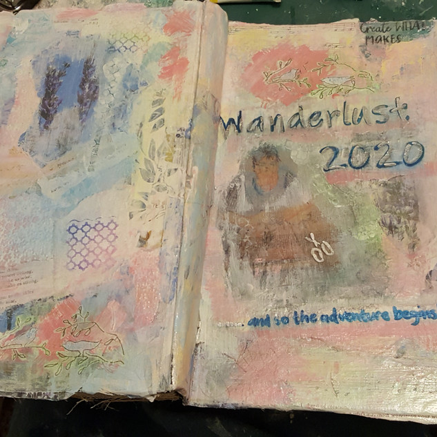 Cover for Wanderlust 2020 Art Journal