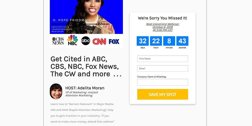 Get Cited in ABC, CBS, NBC, Fox News, The CW and More  . . .