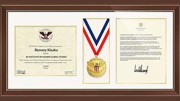 Remmy Kisaka IHGS Gold PSA Award Great a