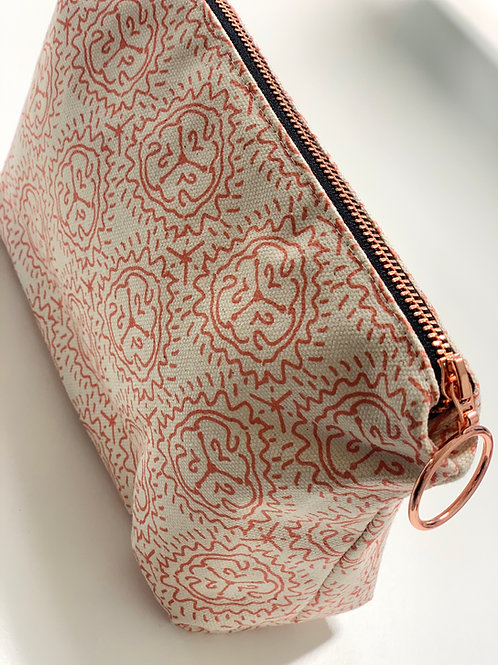 Tiger Lily in Tangerine Makeup Bag