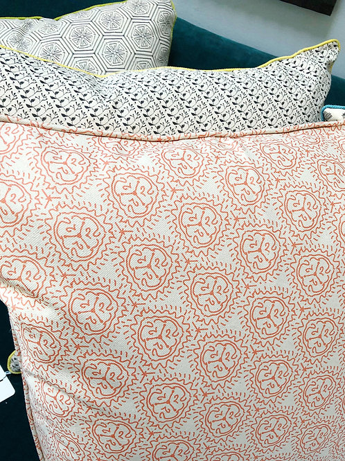 Tiger Lily Pillow Cover with Self-Welt Trim