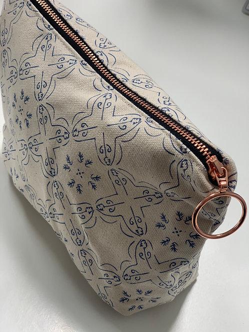 Bavel in Blueberry Makeup Bag