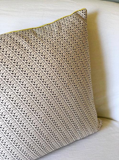 Los Olivos + Flora Pillow with Lemon Cord Trim