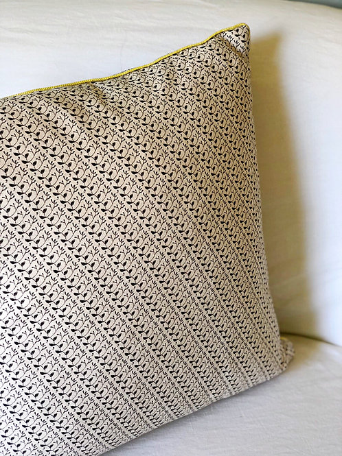 Los Olivos + Flora Pillow Cover with Lemon Cord Trim