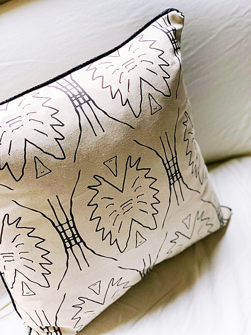 Tribe + Tiger Lily Pillow Cover with Onyx Cord Trim