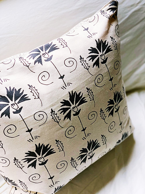 La Fleur + Venus Pillow Cover with Pearl Cord Trim