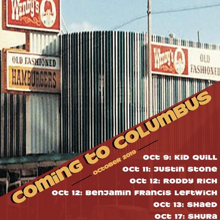 Coming to Columbus - October 2019