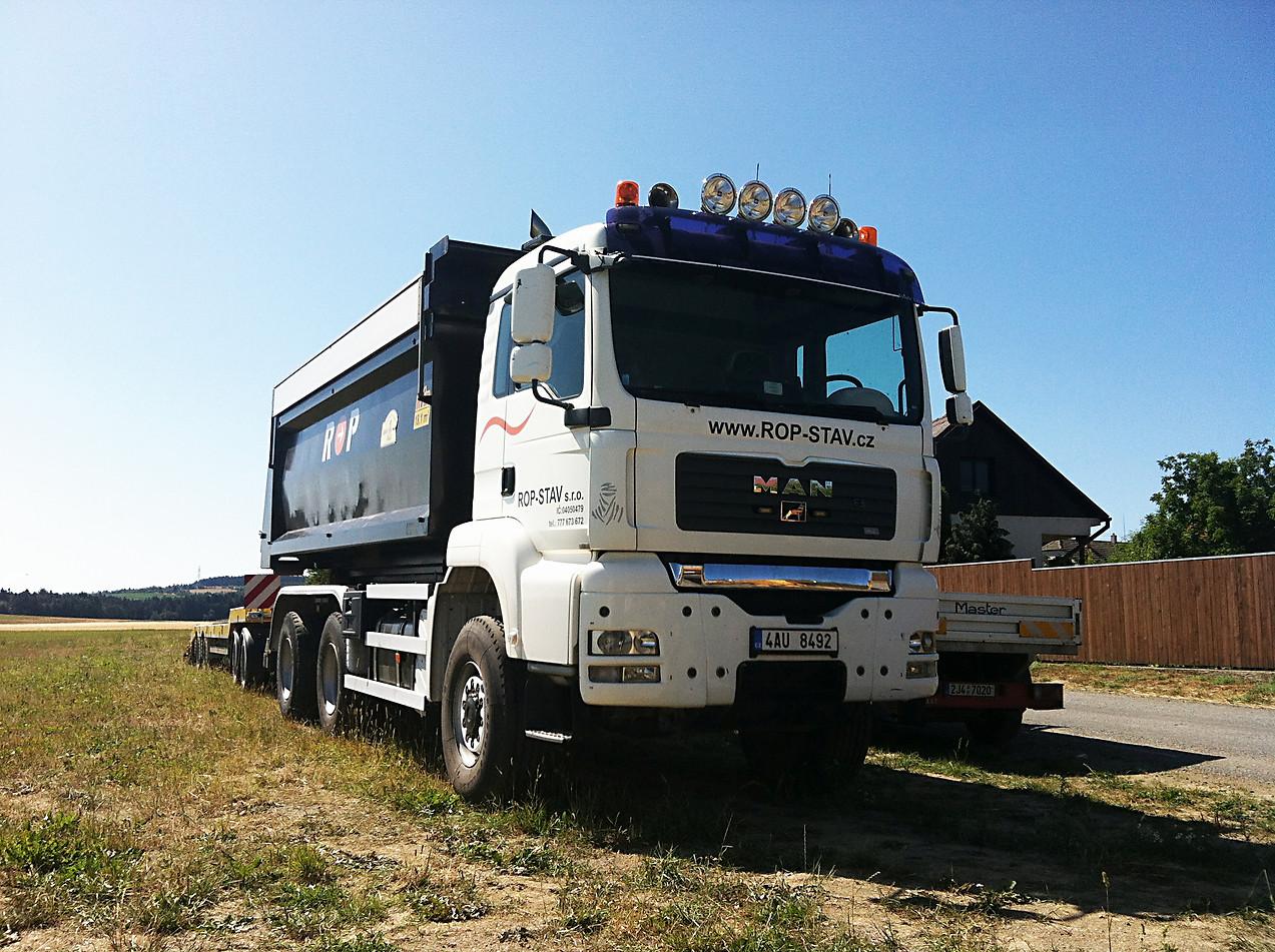 Kontejnerový nosič MAN 6x6 + kontejner 15m