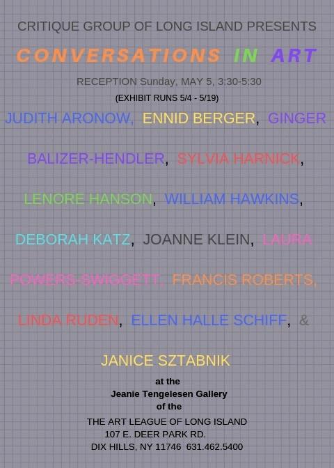 Jeanie Tengelsen Gallery May 2019 Exhibition