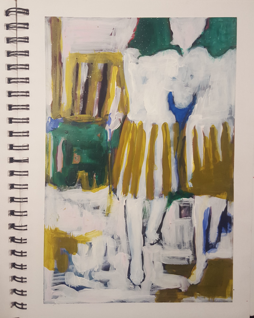 women in striped skirts