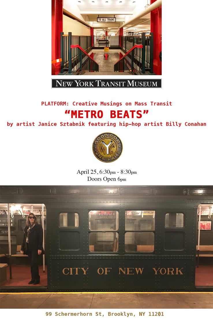 """Presenting: """"Metro Beats"""" at New York Transit Museum"""