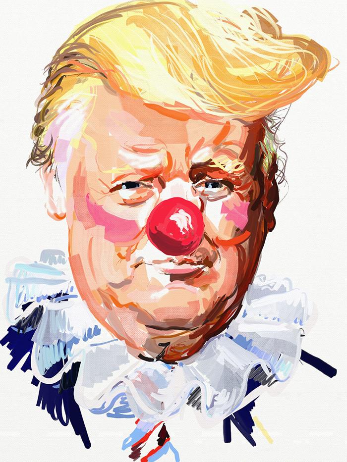 Eric Fischl | Donald Trump Clown