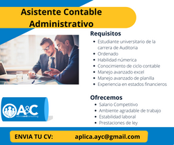 Asistente Contable Administrativo