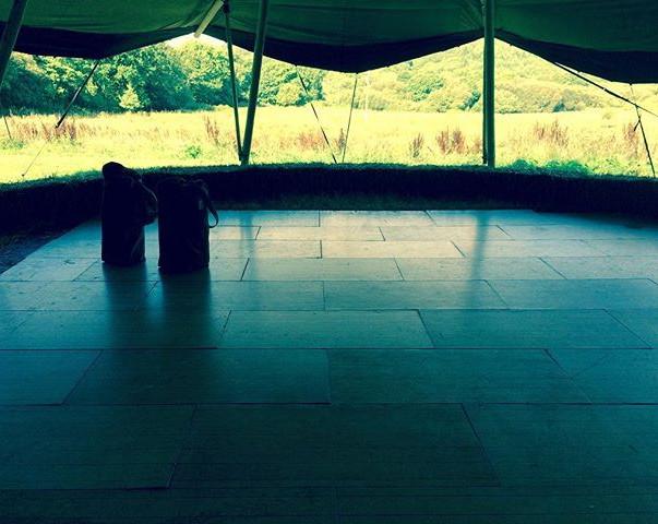 What a view #yogateacherproblems #gatherfestival2017 #cardigan #yoga #yogateacher