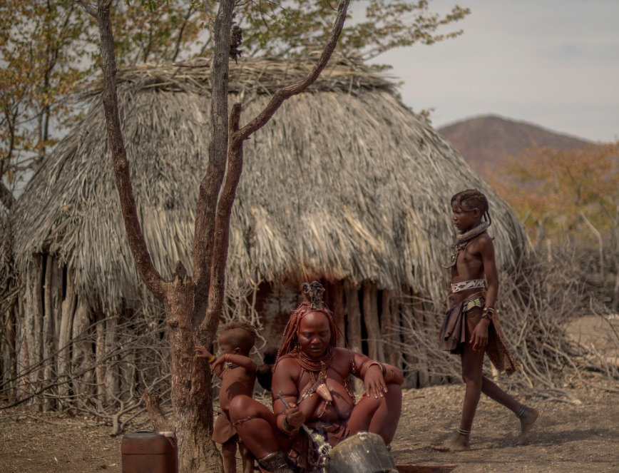"Porridge, ""The Red People"", Kaokoland, Namibia. August, 2015."