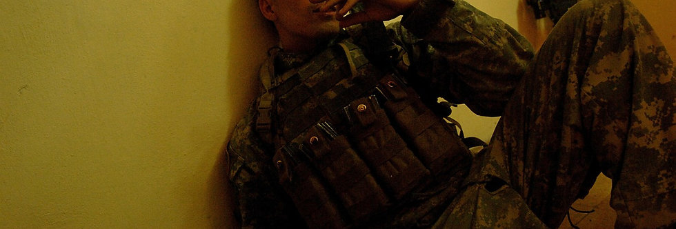 Smoke Break, Iraq. June, 2006.