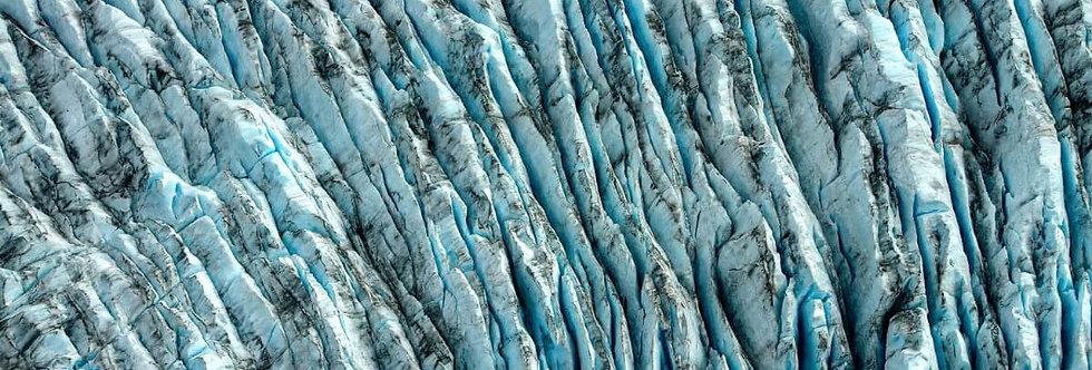 Crevasses, Grewingk Glacier, Kachemak Bay, Alaska. July, 2016.