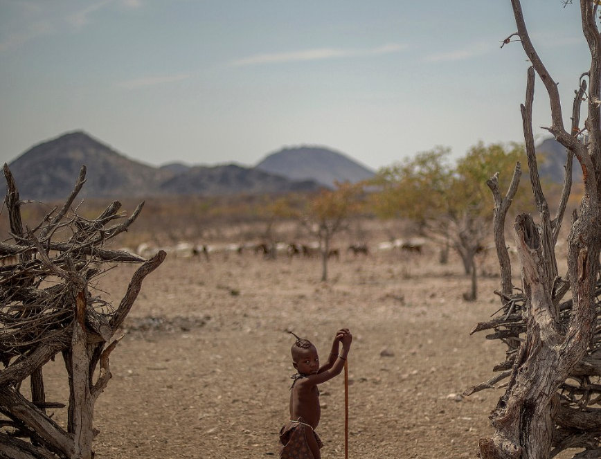 "Little Herder, ""The Red People"", Kaokoland, Namibia. August, 2015."