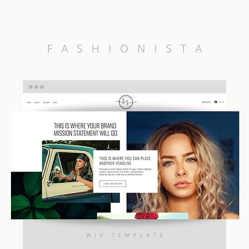 Fashionista     Wix Website Starter