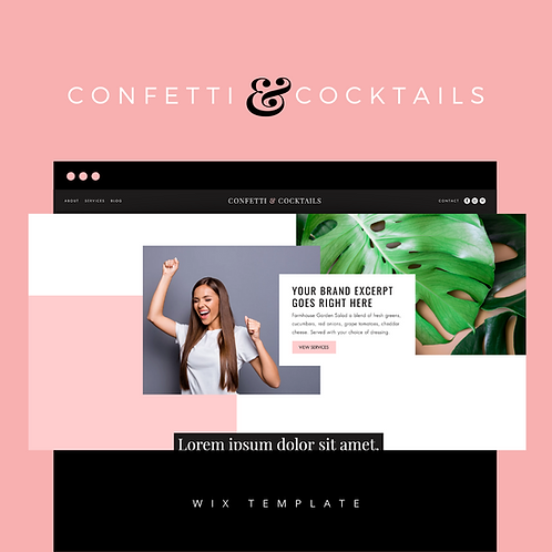 Confetti & Cocktails  |  Wix Website Starter