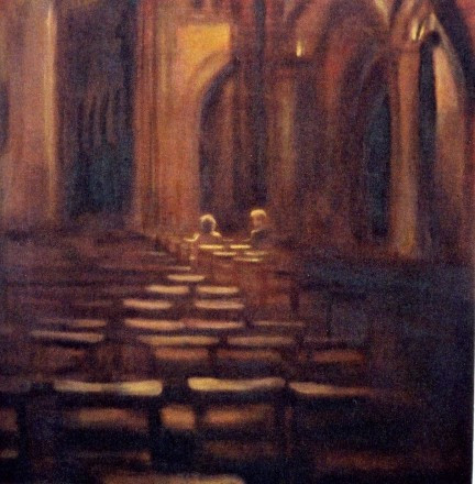 cathedral - oil on canvas - sold to priv