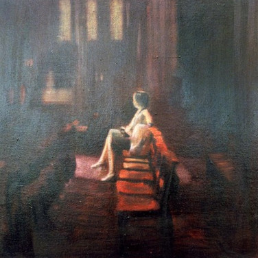 cathedral II - oil on canvas - sold to p