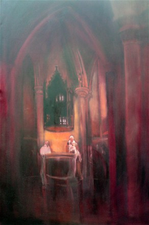 christening - oil on canvas - sold to pr