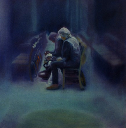 family praying - oil on canvas - sold to