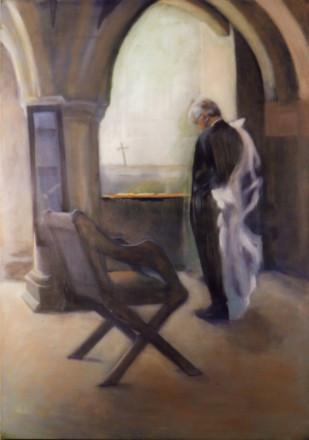 canon Paul Mellor - oil on canvas - on l