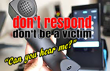 Don't Be a Victim: DON'T RESPOND!