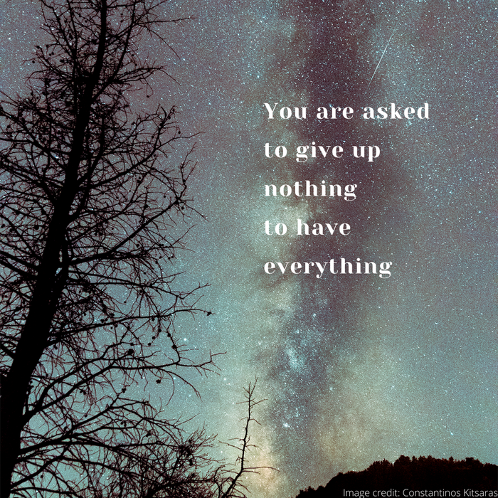 You are asked to give up nothing