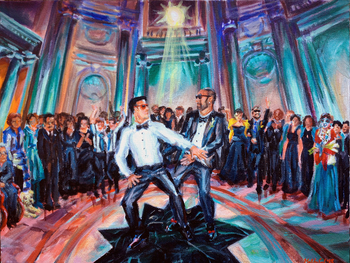 """First dance, 12"""" x 16"""", based on multiple photos"""