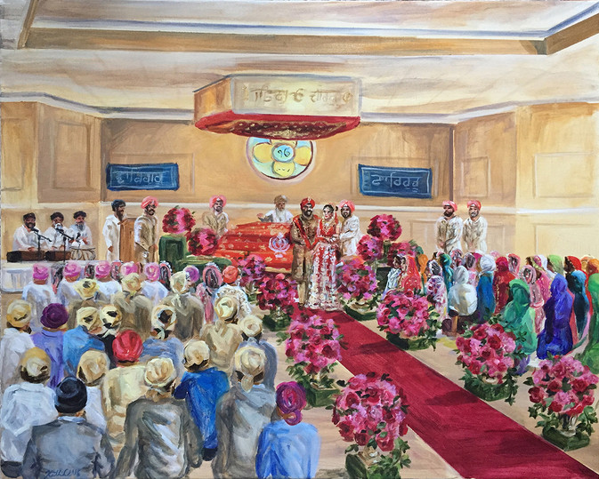 Traditional Sikh ceremony, NJ